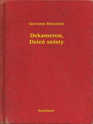 cover image of Dekameron, Dzień szósty