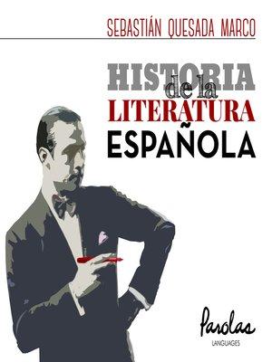 cover image of Historia de la literatura española