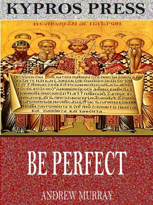 cover image of Be Perfect
