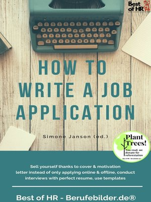 cover image of How to Write a Job Application