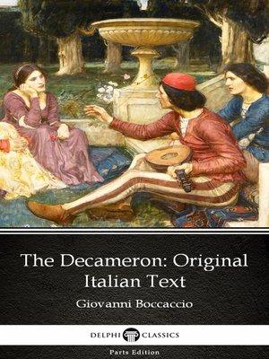 cover image of The Decameron Original Italian Text by Giovanni Boccaccio