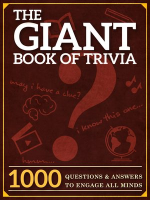cover image of The Giant Book of Trivia