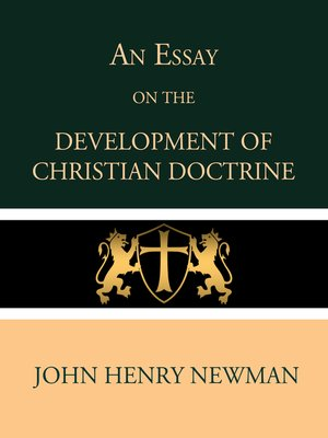 cover image of An Essay on the Development of Christian Doctrine