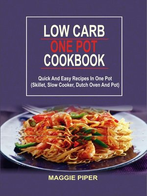 cover image of Low Carb one pot recipes