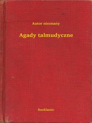 cover image of Agady talmudyczne