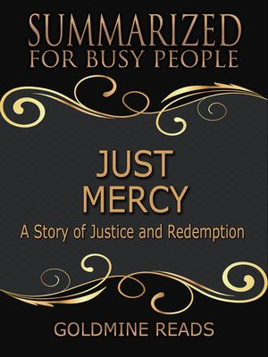 cover image of Just Mercy - Summarized for Busy People
