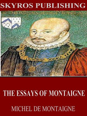 cover image of The Essays of Montaigne