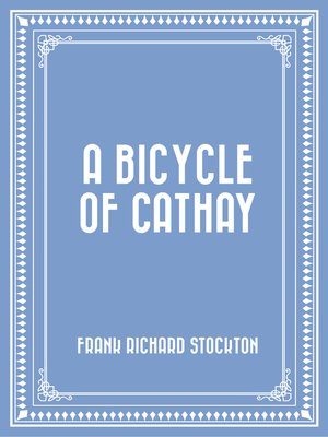 cover image of A Bicycle of Cathay