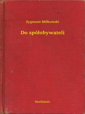 cover image of Do spółobywateli