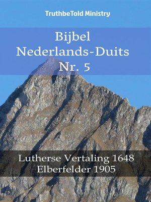 cover image of Bijbel Nederlands-Duits Nr. 5