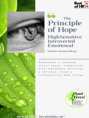 cover image of The Principle of Hope. High Sensitive Introverted Emotional
