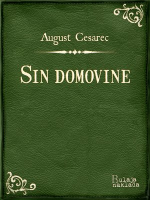 cover image of Sin domovine