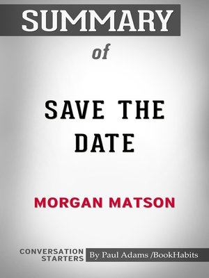 cover image of Summary of Save the Date
