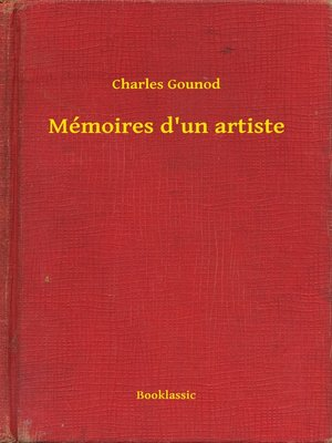 cover image of Mémoires d'un artiste