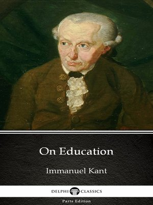cover image of On Education by Immanuel Kant