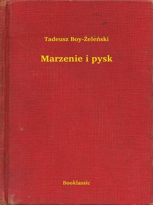 cover image of Marzenie i pysk