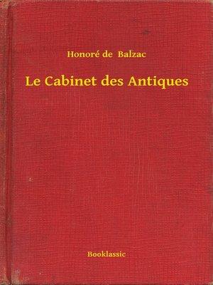 cover image of Le Cabinet des Antiques