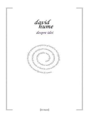 cover image of Despre idei