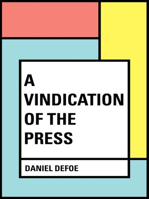 cover image of A Vindication of the Press