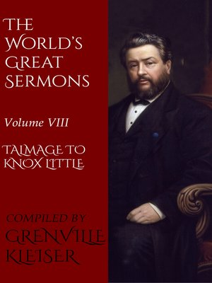 cover image of Volume VIII—Talmage to Knox Little