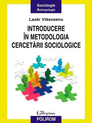 cover image of Introducere în metodologia cercetării sociologice