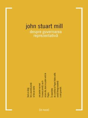 cover image of Despre guvernarea reprezentativă