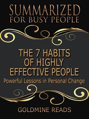 cover image of The 7 Habits of Highly Effective People - Summarized for Busy People