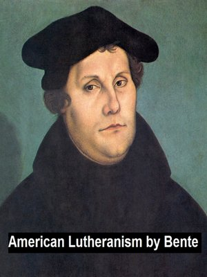 cover image of American Lutheranism