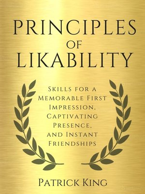 cover image of Principles of Likability