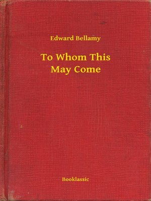 cover image of To Whom This May Come