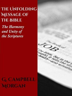 cover image of The Unfolding Message of the Bible