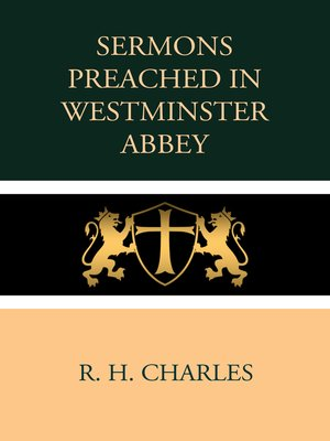 cover image of Sermons Preached in Westminster Abbey