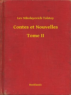 cover image of Contes et Nouvelles--Tome II