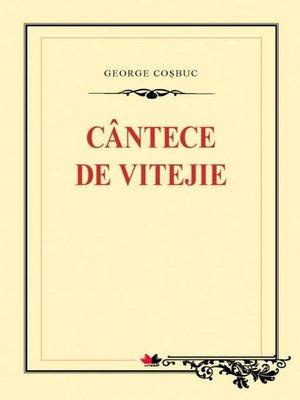 cover image of Cântece de vitejie