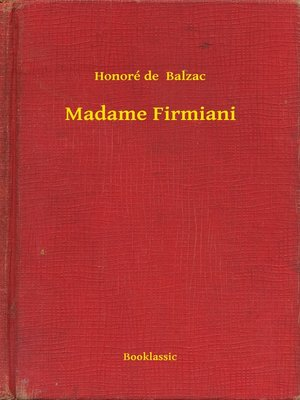 cover image of Madame Firmiani