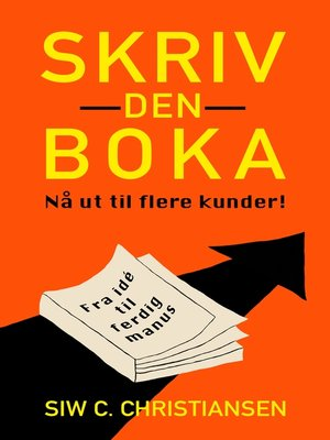 cover image of Skriv den boka
