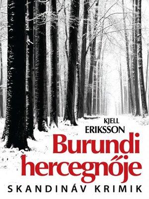cover image of Burundi hercegnője