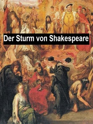 cover image of Der Sturm oder Die Bezuaberte Insel (The Tempest in German translation)