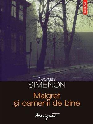 cover image of Maigret și oamenii de bine