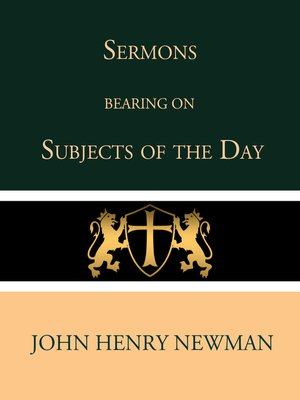cover image of Sermons Bearing on the Subjects of the Day