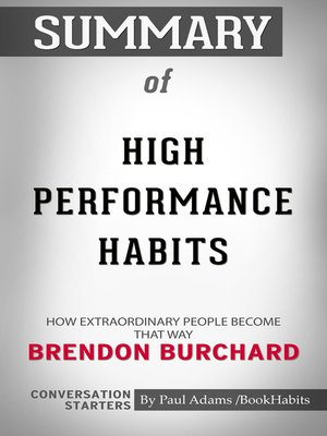 cover image of Summary of High Performance Habits