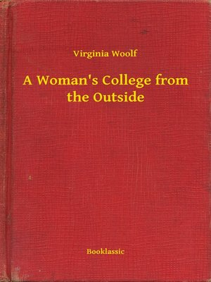 cover image of A Woman's College from the Outside