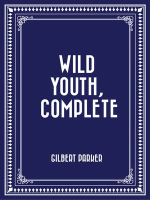 cover image of Wild Youth, Complete