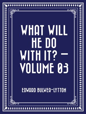 cover image of What Will He Do with It? — Volume 03
