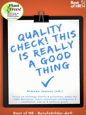 cover image of Quality Check! This is really a Good Thing