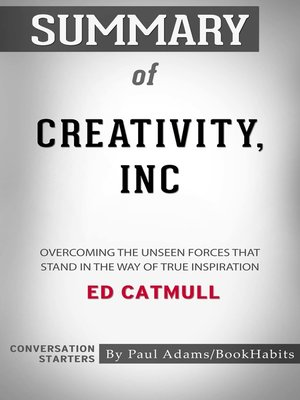 cover image of Summary of Creativity, Inc