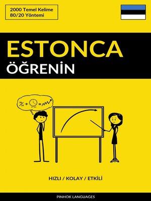 cover image of Estonca Öğrenin - Hızlı / Kolay / Etkili