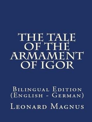 cover image of The Tale of the Armament of Igor