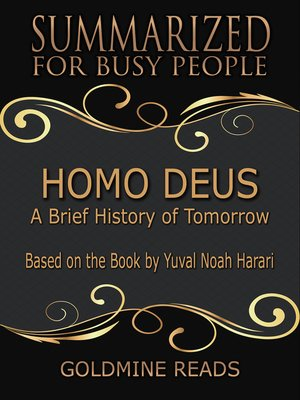 cover image of Homo Deus - Summarized for Busy People