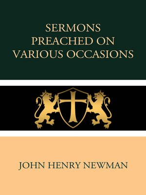 cover image of Sermons Preached on Various Occasions